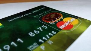 kredietkaart met mastercard logo